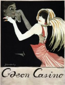 Art Nouveau Caeon Casino Vintage Advertisement Posters